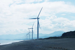 Ilocos wind mills in Bangui
